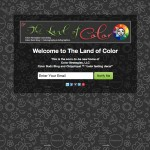 thelandofcolor.com Coming Soon Page