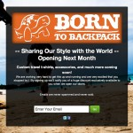 borntobackpack.com Coming Soon Page