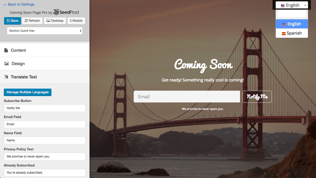 wpml-coming-soon-page