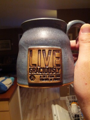 Hand Made Mug given to each attendee. Attention to detail!