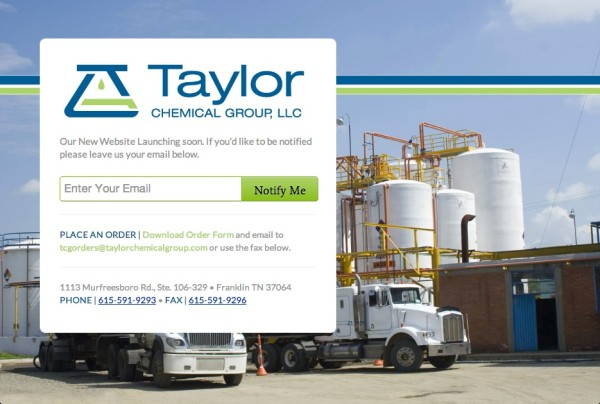 http://www.taylorchemicalgroup.com Coming Soon Page