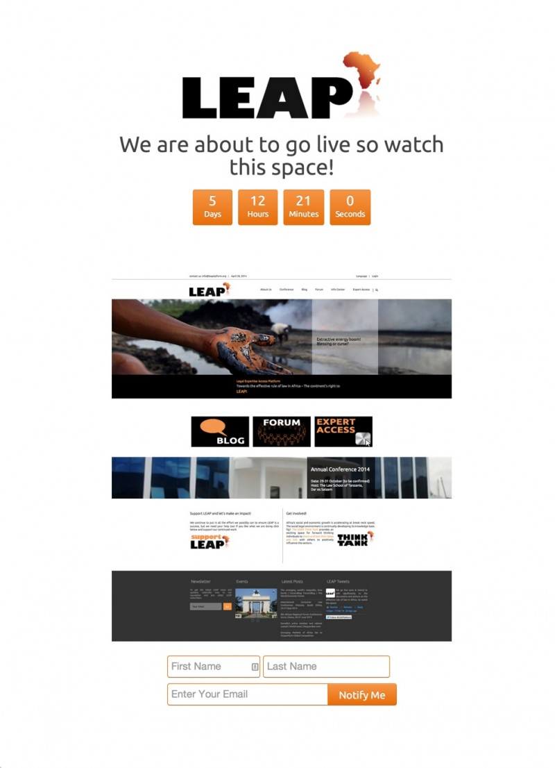 Leap Coming Soon Page