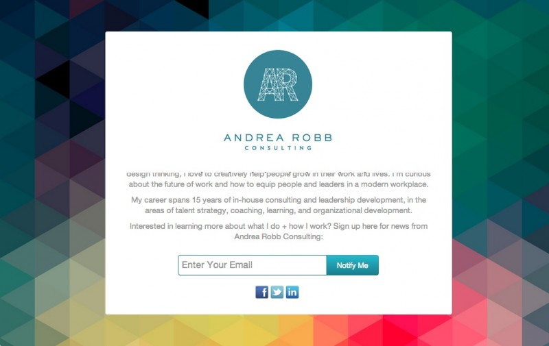 andrearobb.com Coming Soon Page
