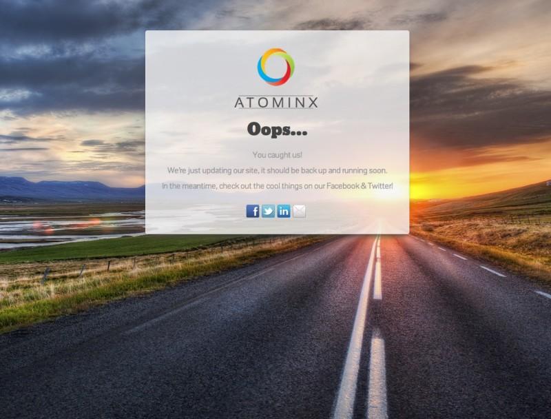 atominx.com Coming Soon Page