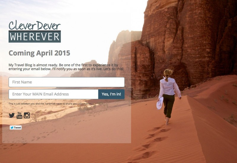 cleverdeverwherever.com Comig Soon Page