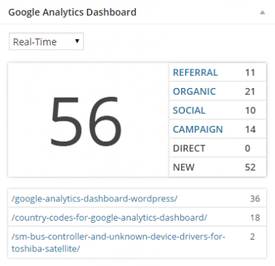 Google Analytics integrated with WordPress