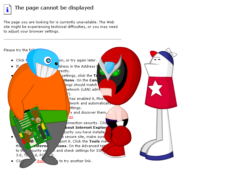 Homestar Runner Error Page Screenshot