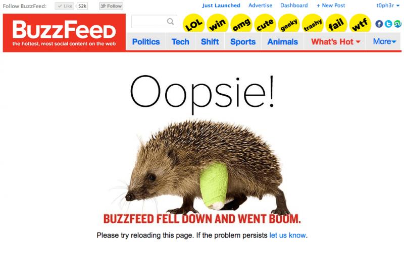 BuzzFeed Error Page