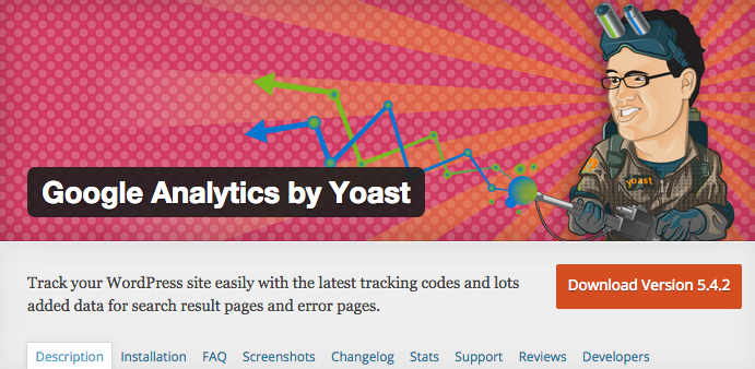 Google Analytics by Yoast Screenshot