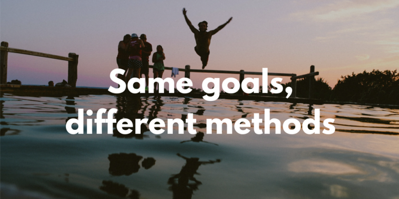 Same goals, different methods