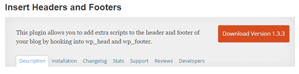 Insert Headers and Footers plugin.