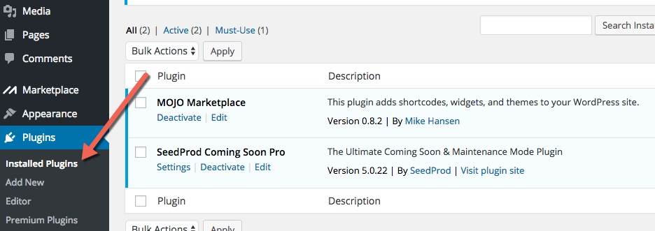 How to disable the Mojo Marketplace Coming Soon Page - SeedProd