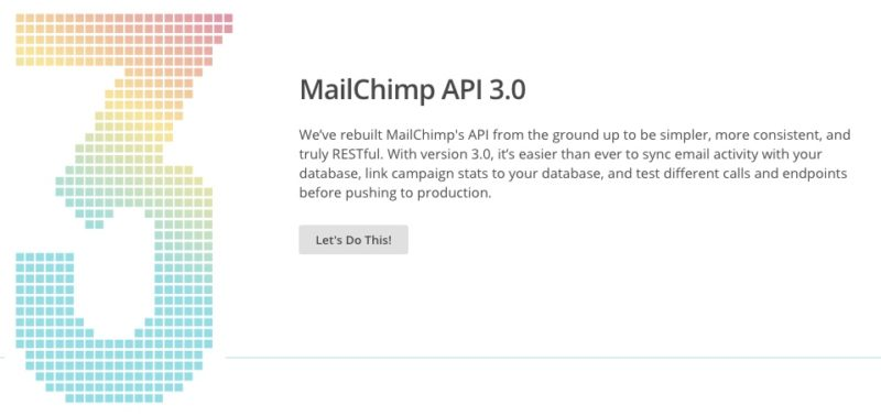 MailChimp API Version 3 Support