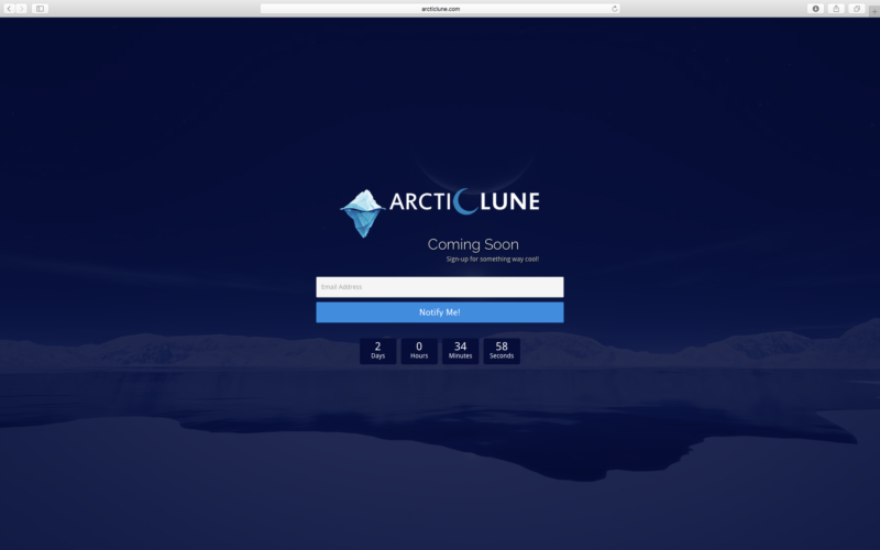 ArcticLune.com's Coming Soon Page Inspiration