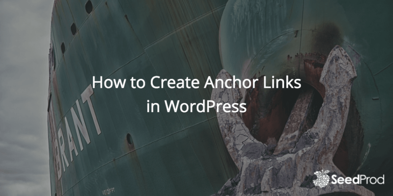 how to create an anchor to an image wordpress