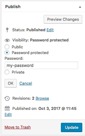 Password Protection WordPress