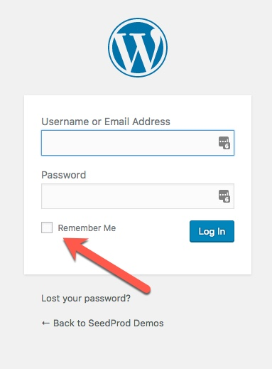 WordPress Login Remember Me