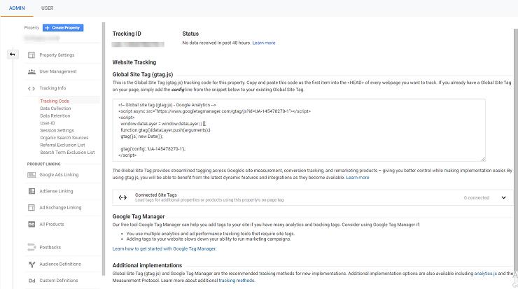 To learn how to add Google Analytics to WordPress, head to the Google Analytics dashboard
