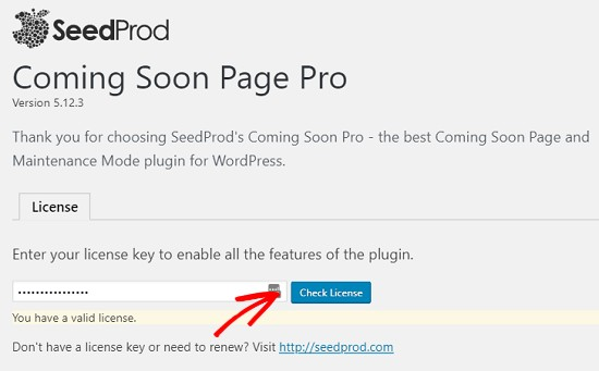 wordpress under construction page