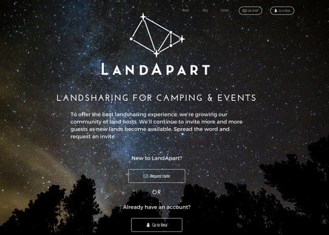 Landapart coming soon page example