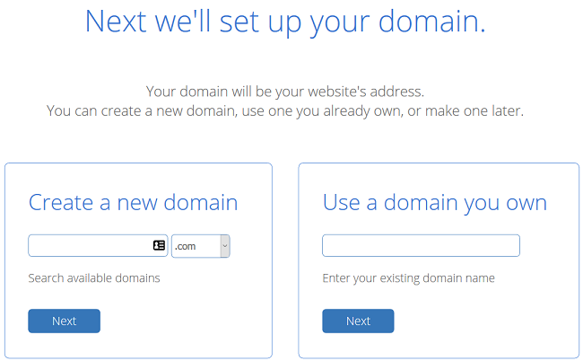 Enter the domain for your free business email address