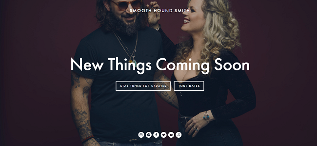 Smooth Hound Smith coming soon page example