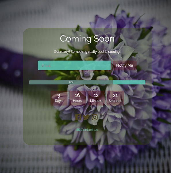 WooCommerce coming soon page