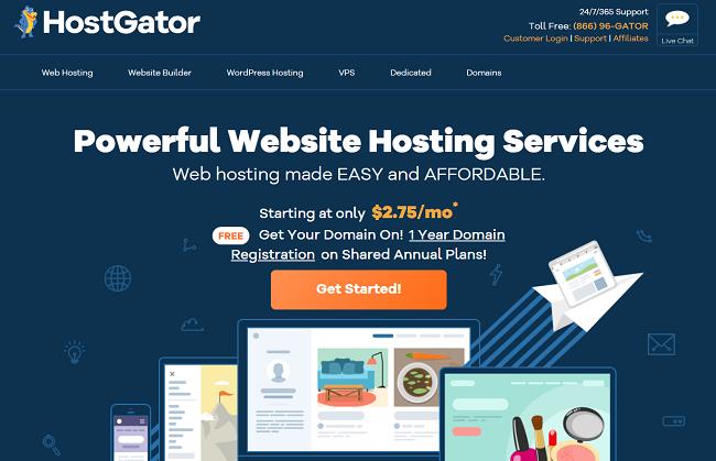 HostGator must-have WordPress web hosting