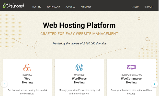 Siteground top WordPress hosting provider