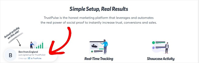 You can add a social proof popup to increase mailing list signups