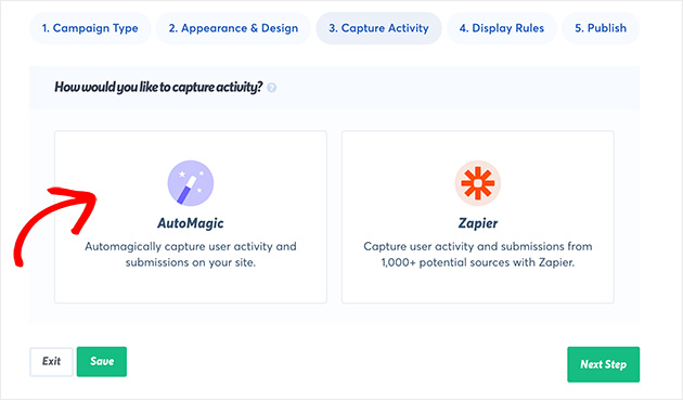Overview of how to capture your campaign activity in TrustPulse. Choose AutoMagic or Zapier