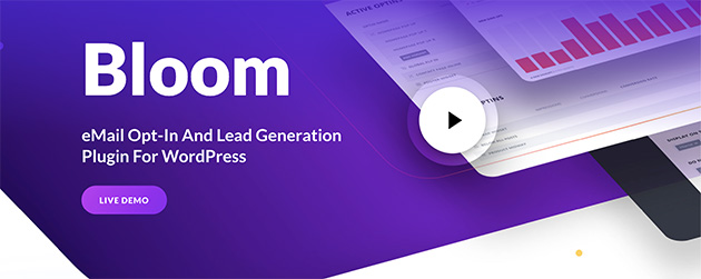 Bloom popup plugin for WordPress homepage