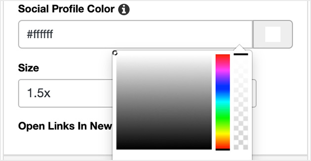 Choose a custom color for your social icons