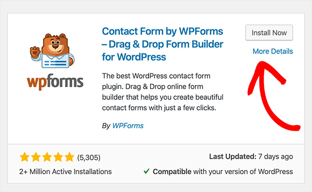 Install WPForms and activate the plugin