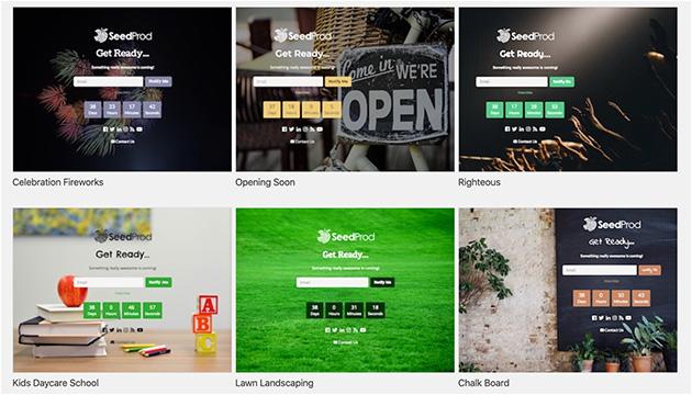 SeedProd pre-built themes.