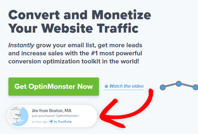 add a recent sales notification for a landing page that comverts