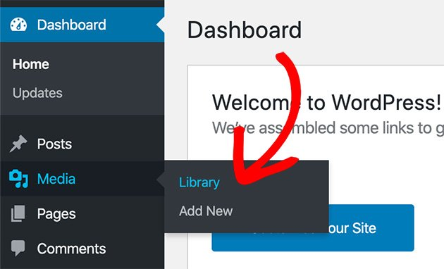 Go to Media then Library from the WordPress Admin area
