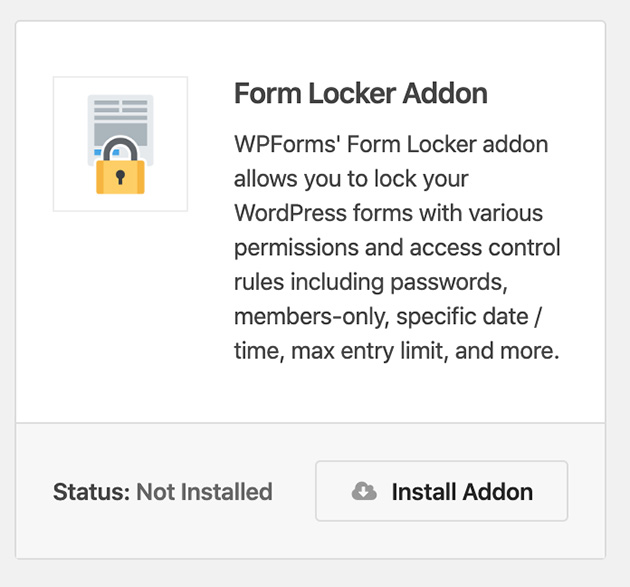 Install the Form Locker Addon from WPForms to password protect forms