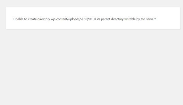 WordPress not uploading images