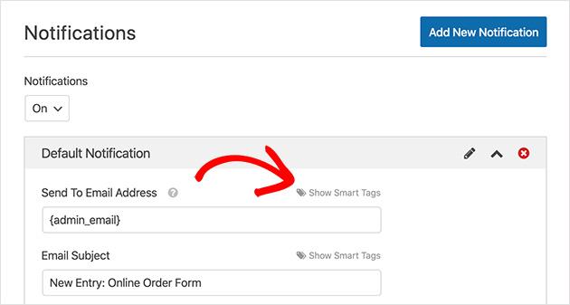 wpforms show smart tags