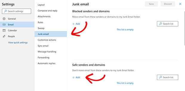 click junk email