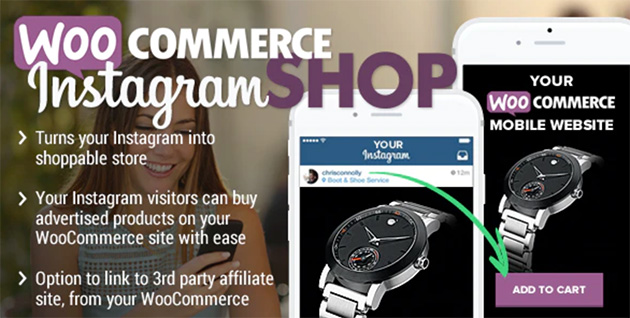WooCommerce Instagram Shop. One of the best WooCommerce extensions for turning your instagram feed into a shop