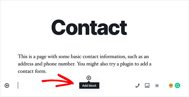 Add a new WordPress content block