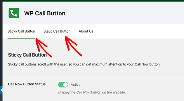 Call button display types