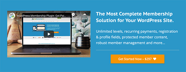 Paid memberships pro complete membership solution for WordPress sites
