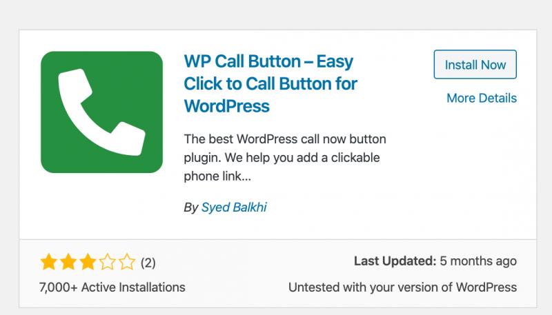 WP Call Button plugin