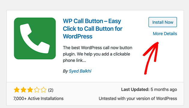 Download and install WP Call Button Plugin