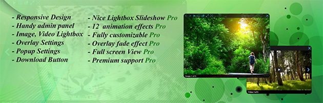 Image and Video Lightbox popup