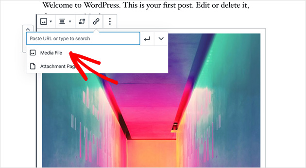 In WP Featherlight you need to link the image to the Media File for it to show in a lightbox
