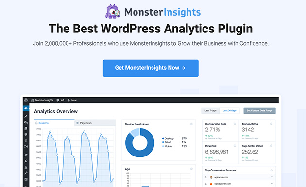 MonsterInsights best WordPress Googel Analytics plugin